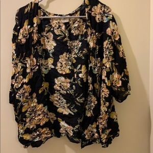 O'neill size XS/S floral cardigan